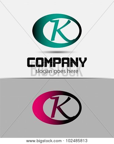 Set of Letter K logo icon