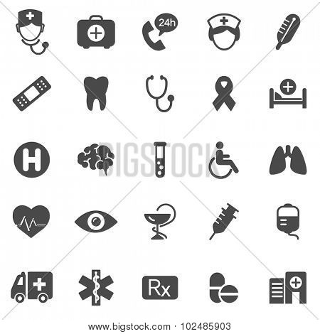 Medical black icons set.Vector
