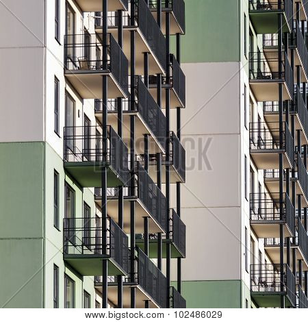 Residential Building Background
