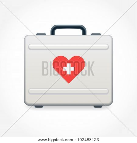 Aluminum Suitcase With Sticker Heart