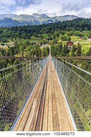 Lama suspended bridge, Valais, Switzerland
