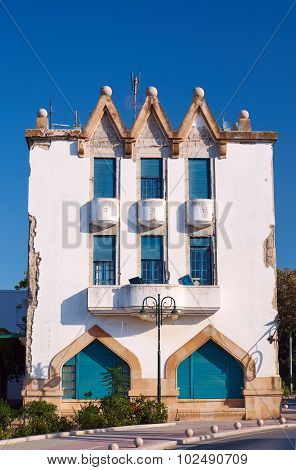 The building in the port city of Kos