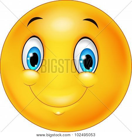 Cartoon emoticon smiling