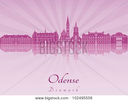 Odense Skyline In Purple Radiant Orchid