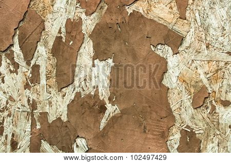 Abstract Texture Of Peeling Plaster Brown Color
