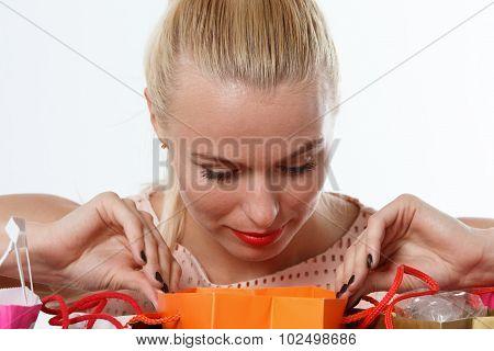 Beautiful Amazed Blonde Woman