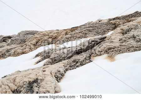 Unique Mixture Of Melting Snow And Water