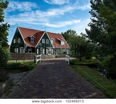 Typical agricultural house in Marken