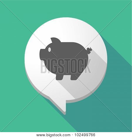 Long Shadow Comic Balloon With A Pig