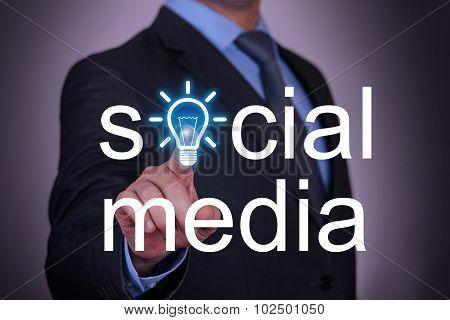 Social Media Idea Concept on Screen