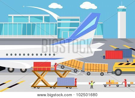 Loading Freight Containers in a Cargo Plane