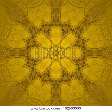 Seamless floral pattern gold