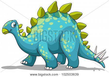 Blue and green dinosaur illustration