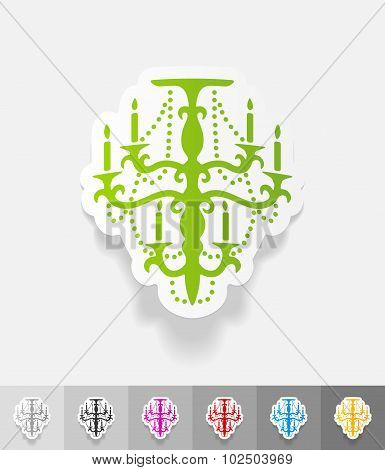 realistic design element. chandelier