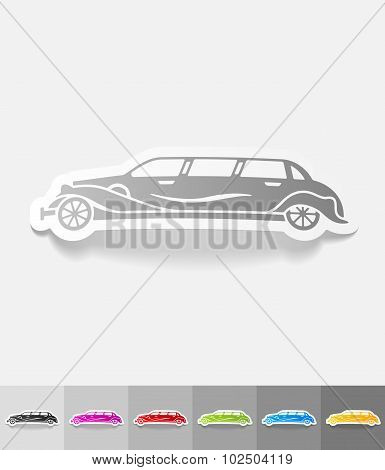 realistic design element. limousine