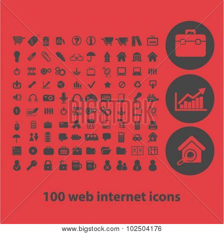 web internet icons