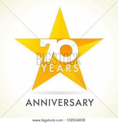 70 anniversary star logo