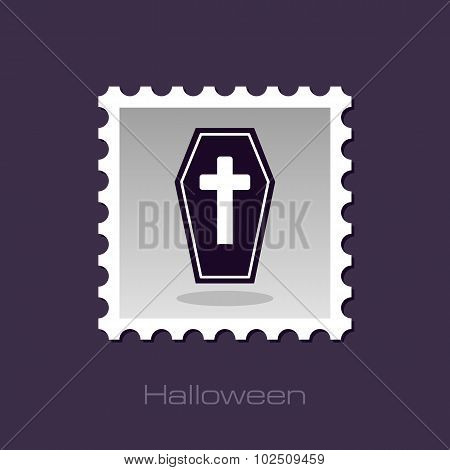 Halloween Coffin Stamp