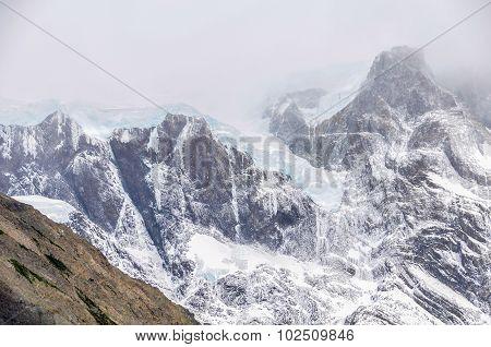 Glacier, Torres Del Paine National Park, Chile