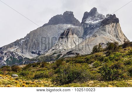 Mountain, Torres Del Paine National Park, Chile