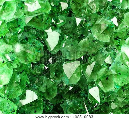 Texture From Natural Green Crystal