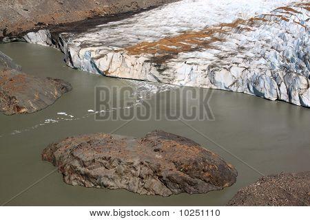 Island And Glacier