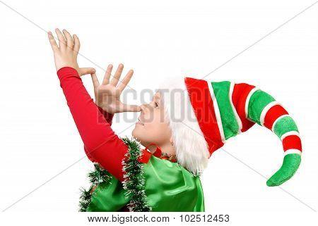 Girl - Santa's Elf Shows Teasing