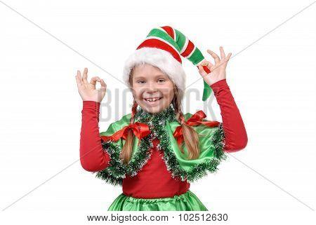 Elf Showing Sign Ok.