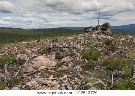 Rocky Landscape In South Yakutia