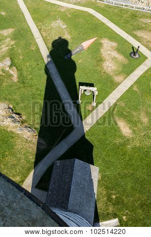 Boston Lighthouse Shadow As Seen From The Top