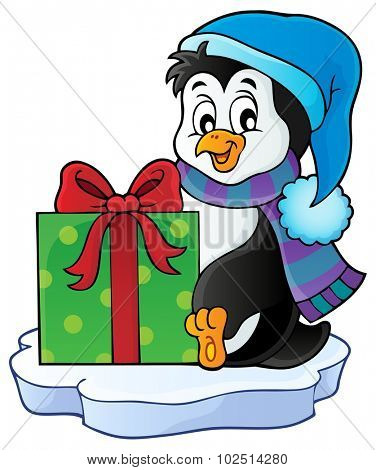 Christmas penguin topic image 5 - eps10 vector illustration.