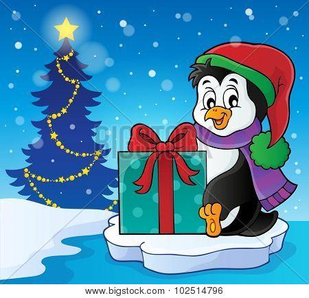 Christmas penguin topic image 6 - eps10 vector illustration.