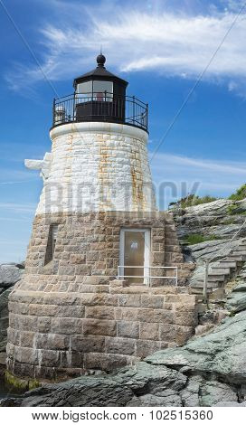 Castle Hill Lighthouse In Newport Rhode Island
