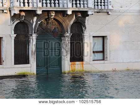 Venice House During High Tide