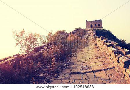 closeupof landscape at great wall of china