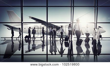 Airport Pilot Cabin Crew Professional Occupation Concept