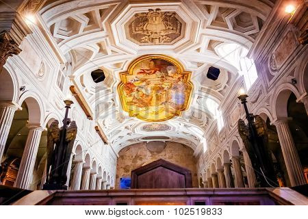 Rome, Italy - October 30: Interior Of The Church Of San Pietro In Vincoli In Rome, Italy On October