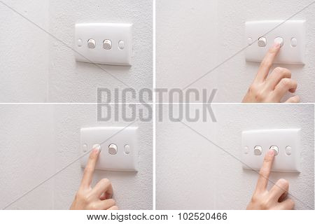 Press Turn On/off Electrical Switch Set