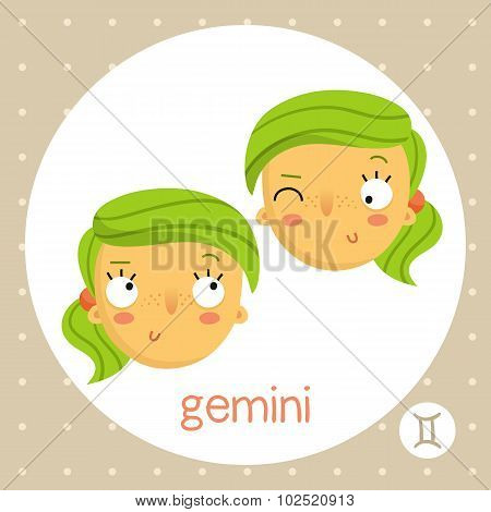 Gemini Zodiac Sign, Twin Girls