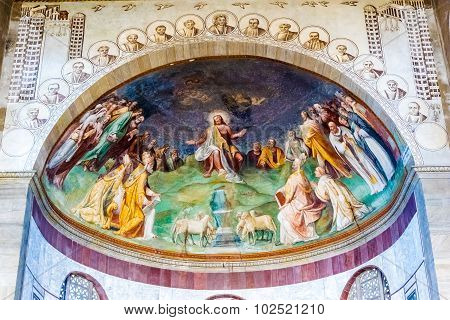 Rome, Italy - October 30: Interior And Confesional In The Basilica Of Saint Sabina In Rome, Italy On