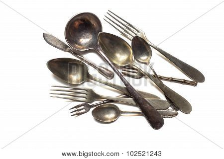 Different Antique Cutlery
