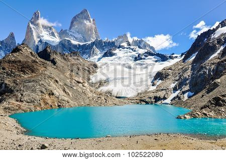 Lagoon, Fitz Roy, El Chalten, Argentina