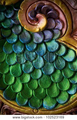 Close Up Of The Ceramic Skin Covering A Naga