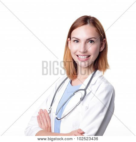 Young Doctor Woman Smile