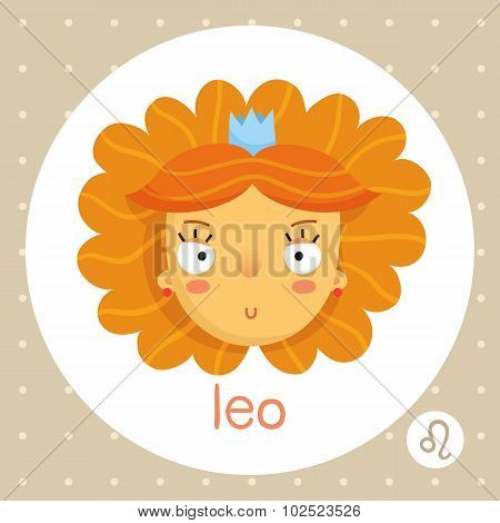 Leo Zodiac Sign, Girl With Voluminous Hair And Crown