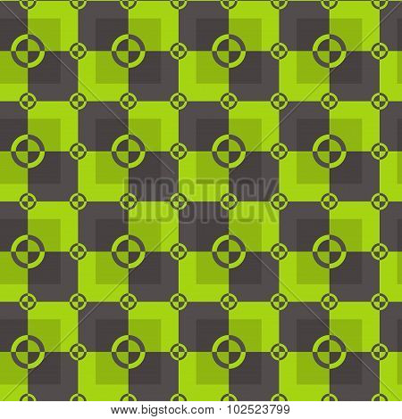 Square pattern in acid and brown colors