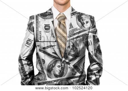 Master Of Business Dressed In Dollar Suit