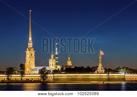 Saint Petersburg/Russia - August 05, 2015: Peter and Paul Fortress