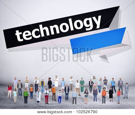 Technology Modern Advanced Digital Word Concept