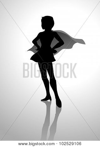 Superheroine Silhouette